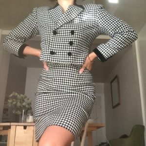 Vintage gingham two piece suit